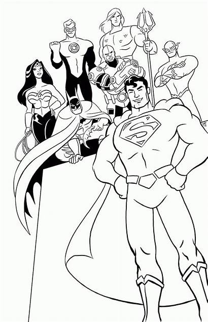 Justice League Coloring Pages Lego Comic Printable