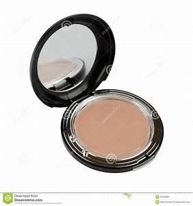 Makeup Powder With Mirror Stock Image - Image: 31536891