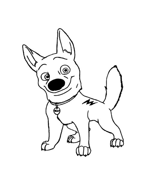 bolt coloring pages    print