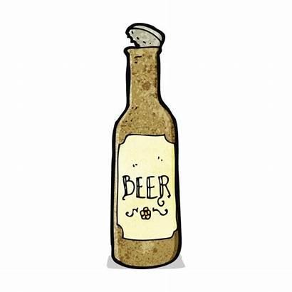 Beer Bottle Cartoon Clipart Bierflasche Illustration Vector