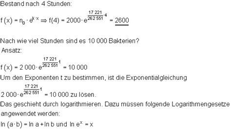 anwendungen der exponentialfunktion mathe brinkmann