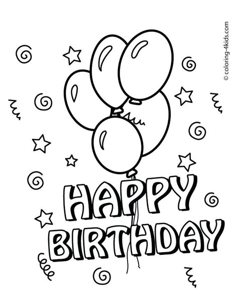 Free Coloring Cards by Printable Birthday Colouring Sheets Happy Birthday Cards