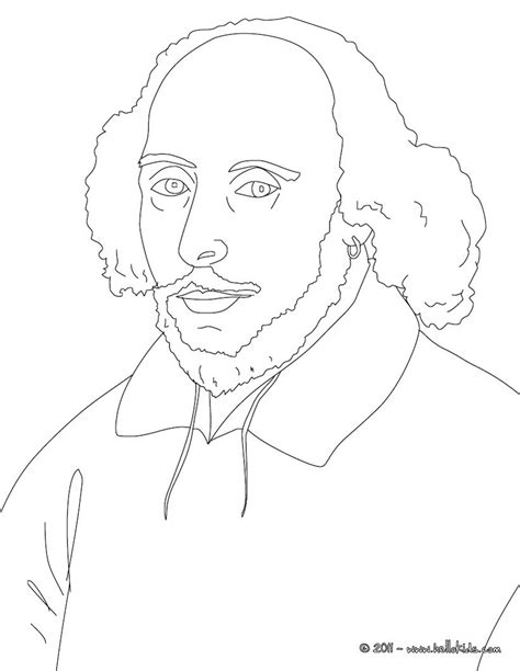 Permalink to William Shakespeare Colouring Page