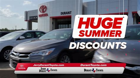 jerry durant toyota summer starts  youtube