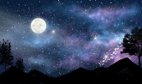 Aesthetic Background Pictures by Aesthetic Background Of And Moon Illustration Image