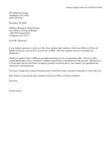 Job Offer Rejection Letter Sample