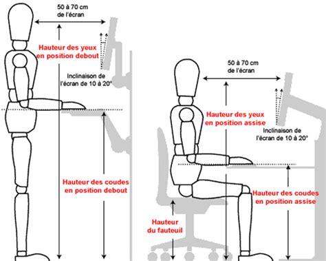 position ergonomique au bureau ergonomie et aménagement de poste de travail pour les