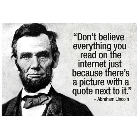 foto de Abraham Lincoln Internet Quote Poster drunkMall