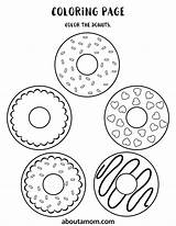 Activity Donut Printable Coloring Aboutamom sketch template