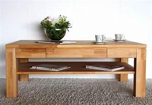 Couchtisch Kernbuche Massiv Quadratisch : couchtisch 115x45x70cm 1 schublade 1 ablageboden ~ Watch28wear.com Haus und Dekorationen