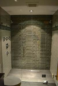 glass tile bathroom Modern Bathroom - Lakeview IL - Barts Remodeling Chicago IL