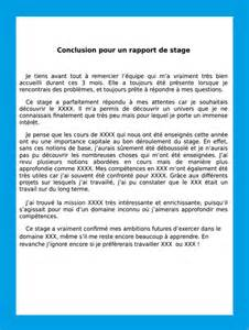 Conclusion Rapport Stage Bac Pro