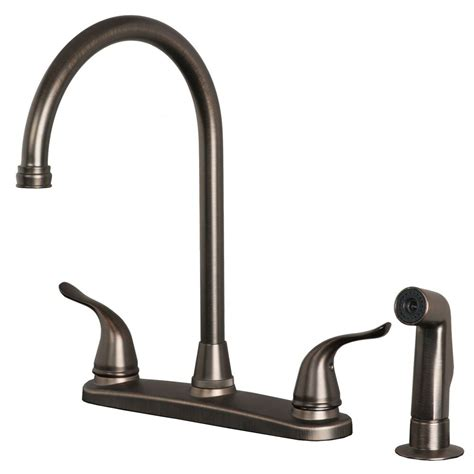 classic high arc swivel kitchen faucet with side spray