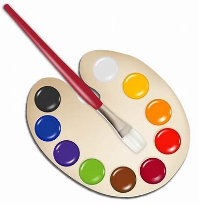 Paint Brush Transparent Clip Palette Clipart Painting