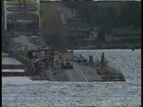 Sinking Of Hood by I90 Bridge Sinks Youtube