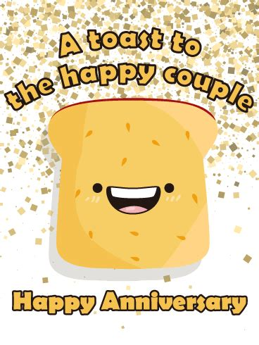 lets toast happy anniversary card birthday greeting