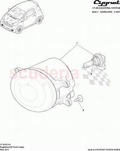 Aston Martin Cygnet Supplemental Front Lamps Parts