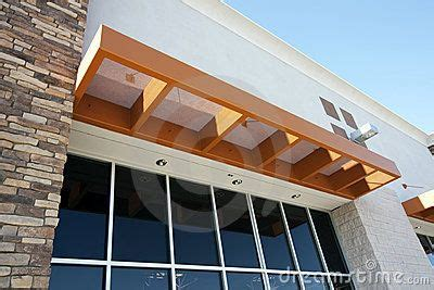 awning  front door modern metal awning  storefront stock photography image