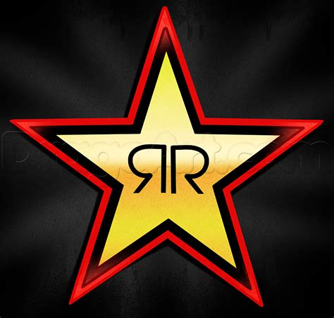 How To Draw Rockstar, Rockstar Energy, Step By Step