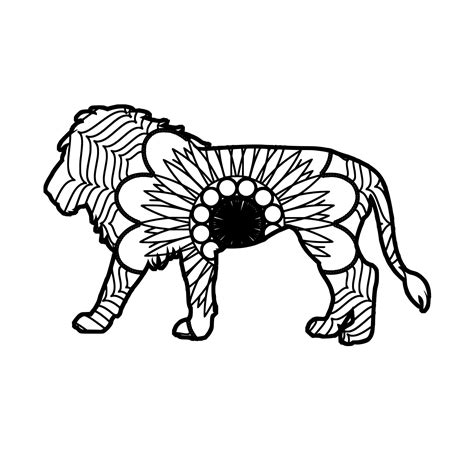 This download includes 10 different mandala designs from simpler 3 layer sunbursts to more complicate 10 layer designs. African Lion Mandala Animal Svg Pdf Mandala Svg Collection ...