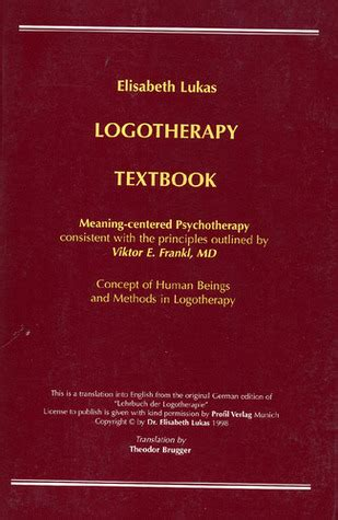 logotherapy  elisabeth  lukas reviews discussion