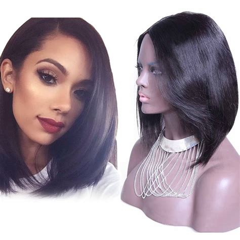 straight short bob indian remy hair  part