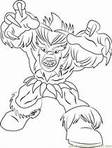 Coloring Sabretooth Pages Squad Hero Super Coloringpages101 Pdf sketch template