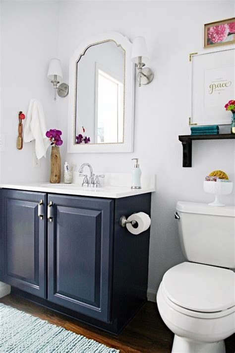 blue painted bath vanity   save