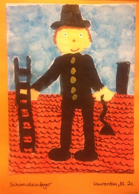 schornsteinfeger klasse  kunstunterricht kunstideen und kunst ideen