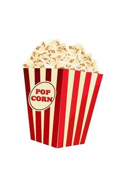 Popcorn Vector Cinema Hollywood Clip Corn Night