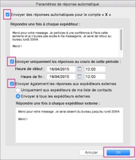 mail absence maladie bureau outlook message absence bureau 28 images fonctionnalit