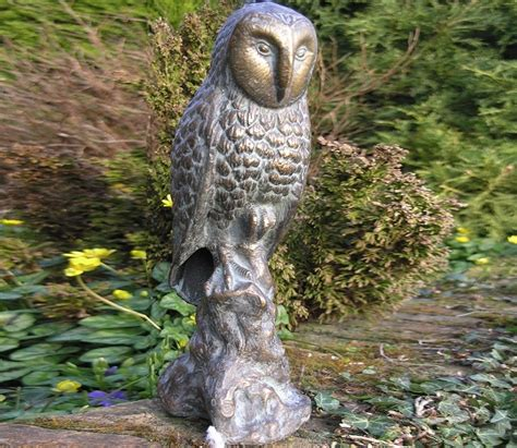 owl for garden owl metal garden ornament gardensite co uk