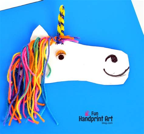 footprint unicorn fun family crafts