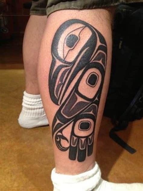 uplifting  spiritual haida tattoos ideas