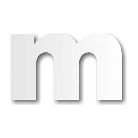 Lettre M Minuscule  Décoration Buffet