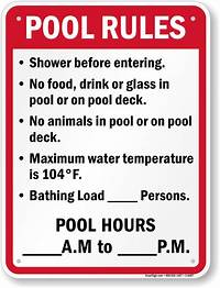 pool rules sign Pool Rules Signs | Free Shipping