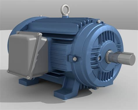 industrial electric motor 3d asset cgtrader