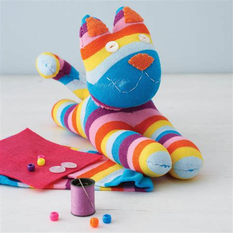 and craft images sock kitty craft kit by sock creatures
