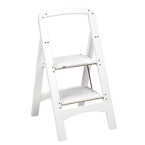 cosco chair step stool white cosco rockford series 2 step white wood step stool ladder