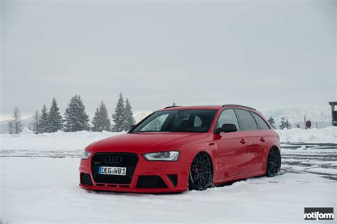 slammed audi s4 stanced snow plow lowered audi s4 avant fitted with