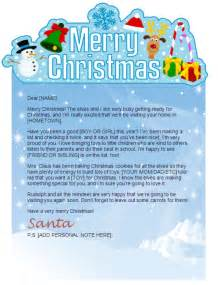 Christmas Letter Templates From Santa