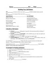 Worksheets On Self-Esteem