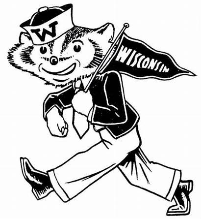 Badger Bucky College Mascot Logos Wisconsin Badgers