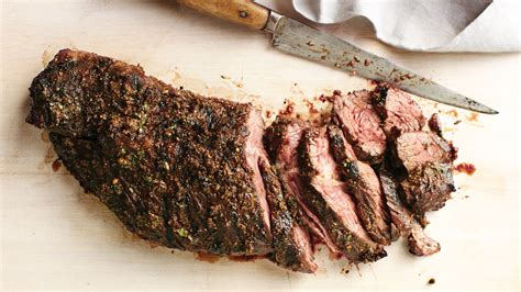 spice crusted grilled hanger steak