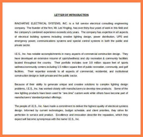company introduction letter samples company letterhead