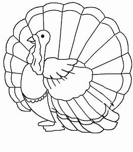 Free printable turkey coloring pages for kids for Turkey drawing template