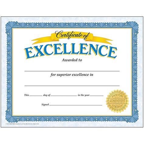 trend enterprises certificate templates t 11301 certificate of excellence 30 pk t 11301 trend