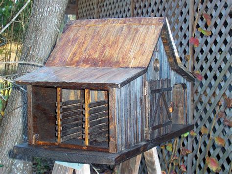 country farm shed birdhouse  tin roof  millcreekcrafts