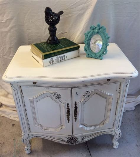 painting wooden furniture shabby chic shabby chic side table hometalk
