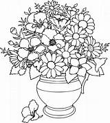 Coloring Flower Pages Simple Printable sketch template
